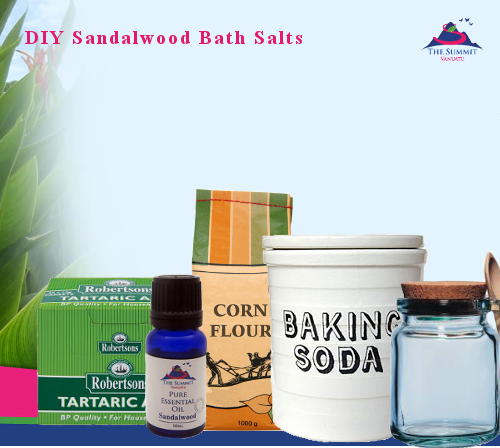 DIY Sandalwood Essential Oil Bath Salts