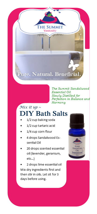 Sandalwood Bath Salts Recipe